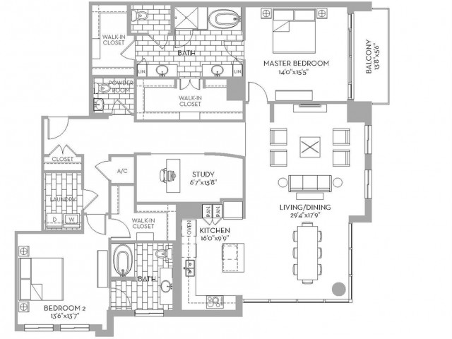2,177 sq. ft. Preston(B.12) floor plan
