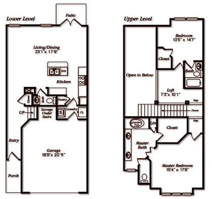 1,602 sq. ft. THGar floor plan