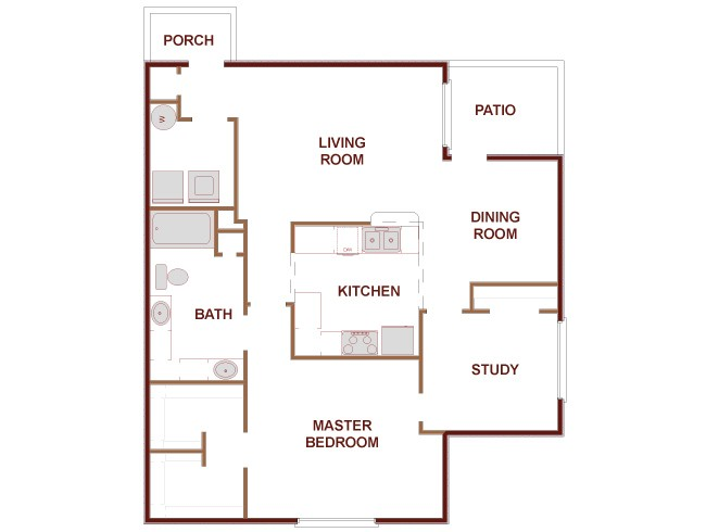 1,035 sq. ft. Fairmont floor plan