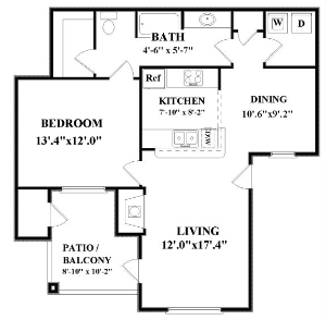 794 sq. ft. Voyager floor plan