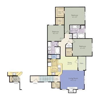 1,423 sq. ft. McKinney - C2A I floor plan