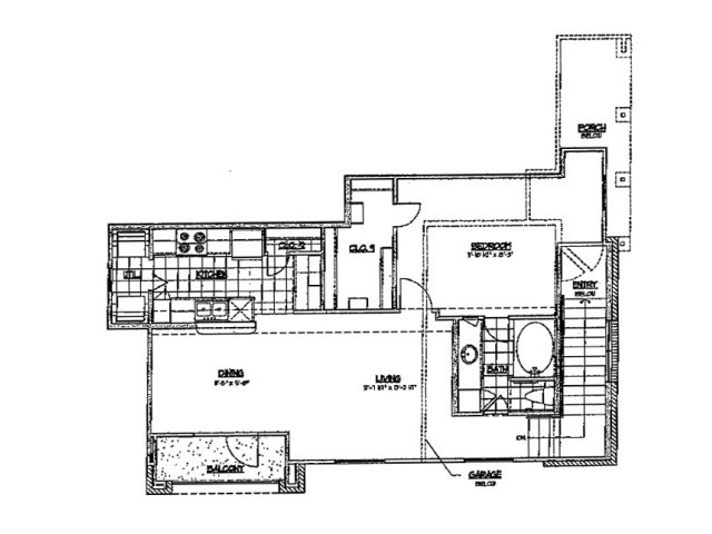 788 sq. ft. C 60 floor plan