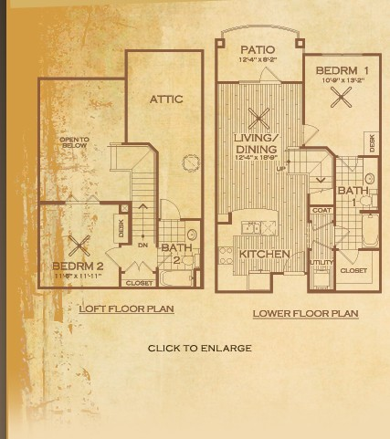 1,028 sq. ft. Buchanan floor plan