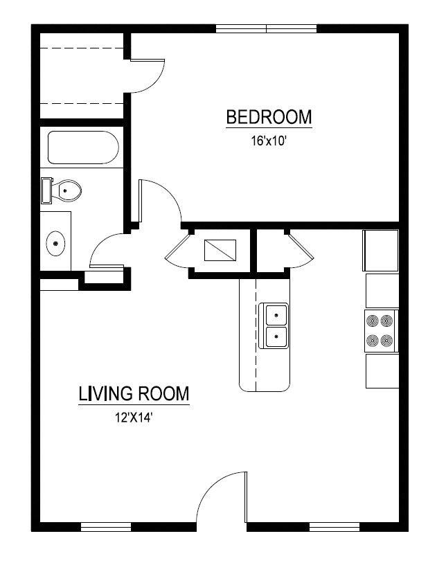 635 sq. ft. floor plan