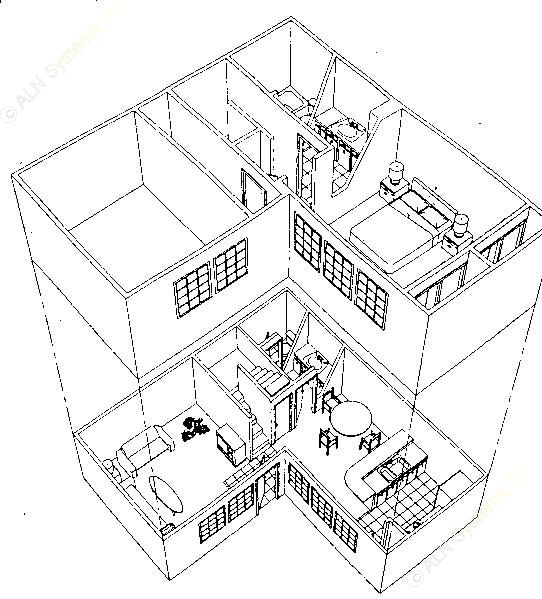 900 sq. ft. A4S floor plan