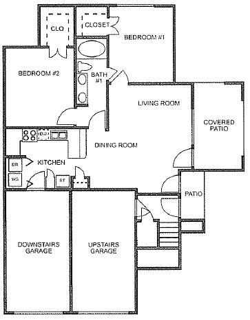 884 sq. ft. to 892 sq. ft. floor plan