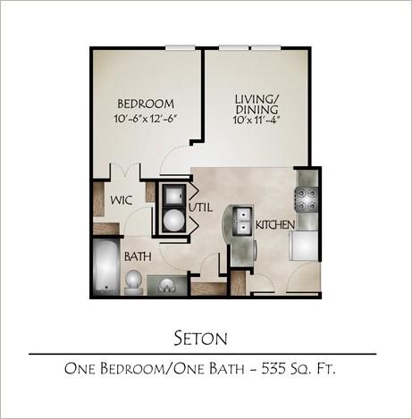 521 sq. ft. SETON(SmartHousing) floor plan