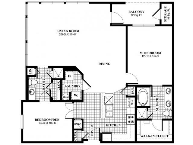1,395 sq. ft. A41 floor plan