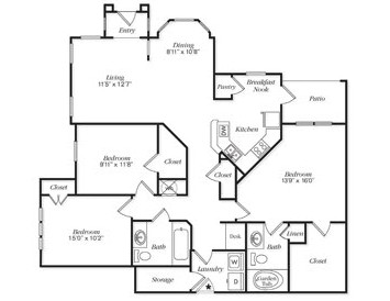 1,447 sq. ft. C1L/C1LG floor plan