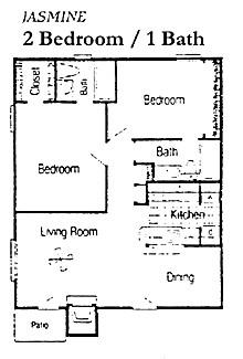 850 sq. ft. B1 floor plan