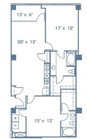 1,228 sq. ft. B4 floor plan