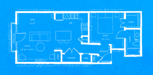 738 sq. ft. L3 floor plan