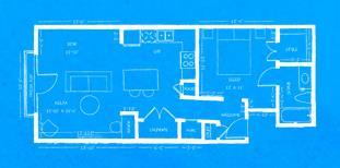 738 sq. ft. L3 floor plan