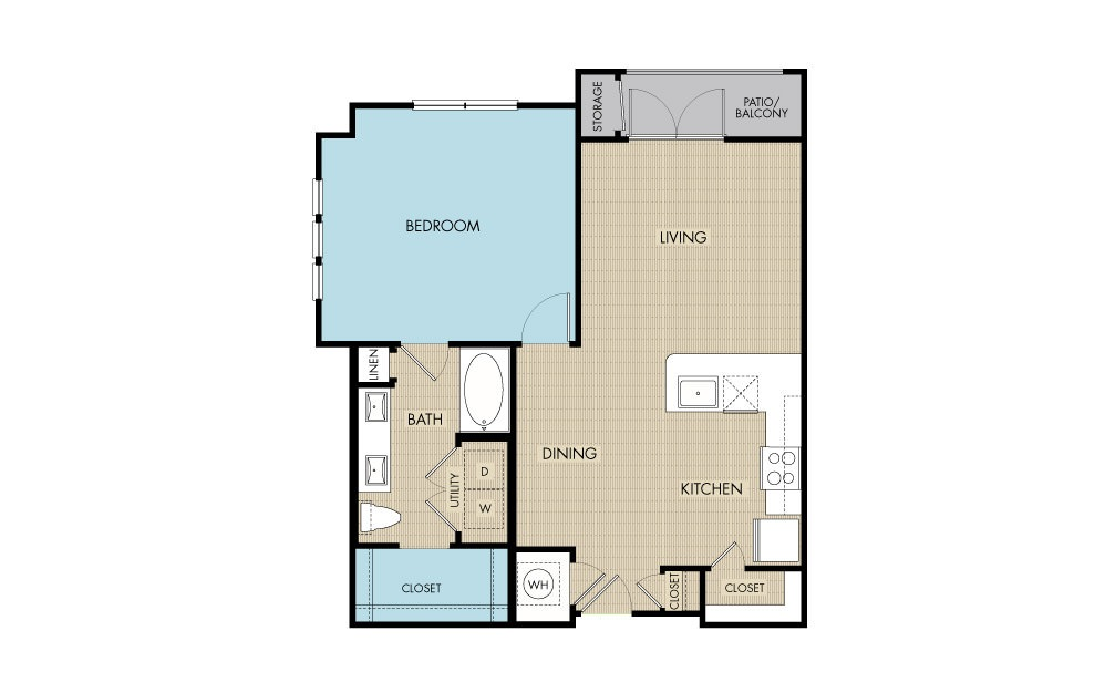 806 sq. ft. to 831 sq. ft. A4 floor plan