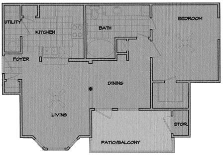 726 sq. ft. Victoria floor plan