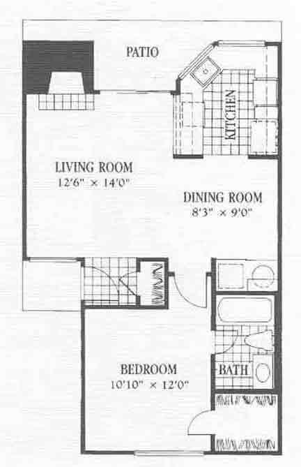 655 sq. ft. A11 floor plan