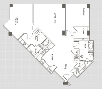 1,443 sq. ft. B3.6 floor plan