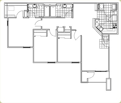 1,200 sq. ft. Clydesdale floor plan