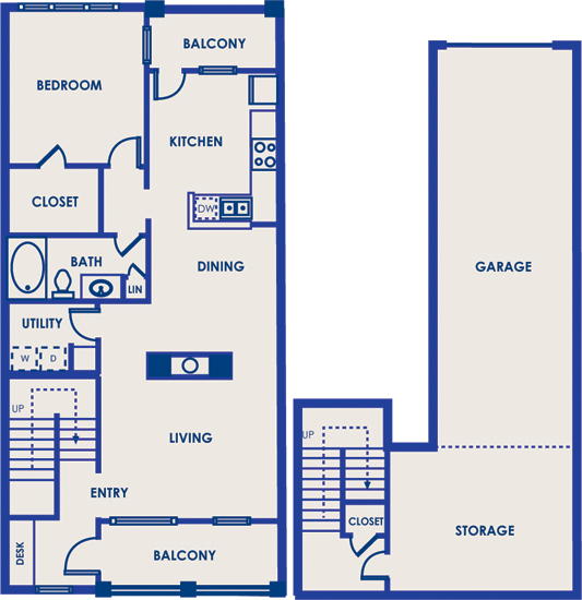 1,032 sq. ft. 11F floor plan