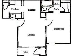 575 sq. ft. floor plan