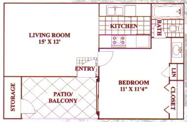 481 sq. ft. A floor plan