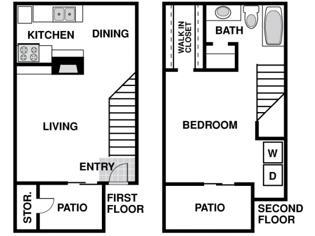 800 sq. ft. C floor plan