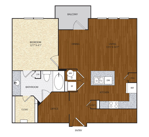 922 sq. ft. A4.1 floor plan