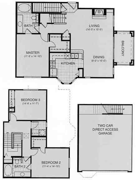 1,540 sq. ft. Switzerland floor plan