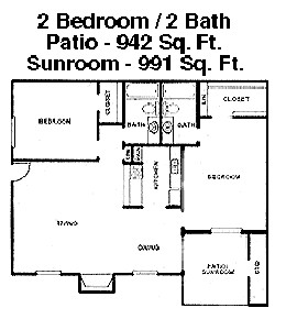 942 sq. ft. F floor plan