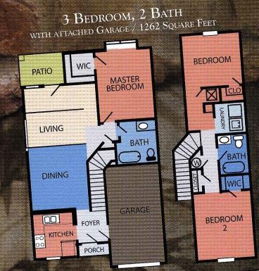 1,262 sq. ft. MKT floor plan