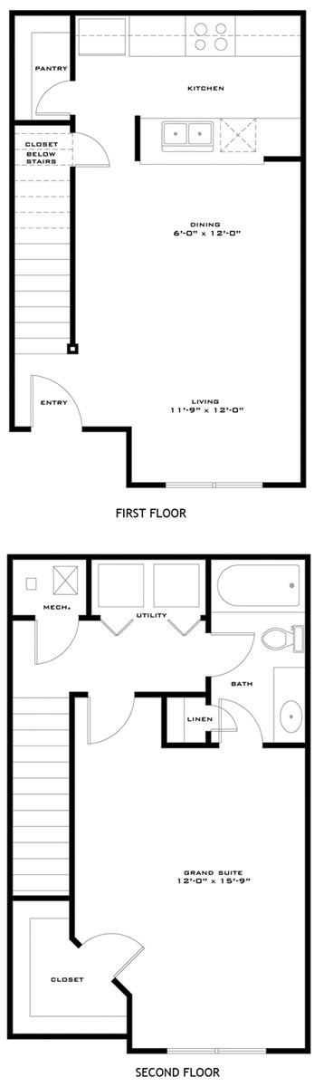 787 sq. ft. AMISTAD/60 floor plan