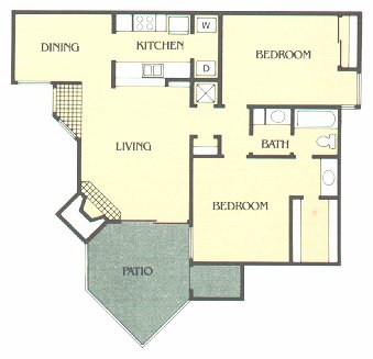 1,120 sq. ft. G floor plan