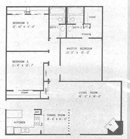 1,311 sq. ft. floor plan