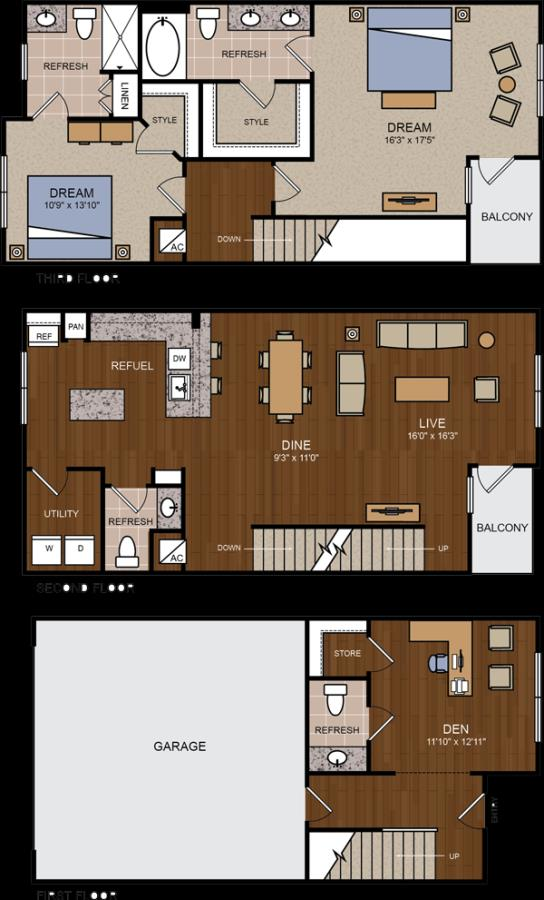 1,949 sq. ft. TH floor plan