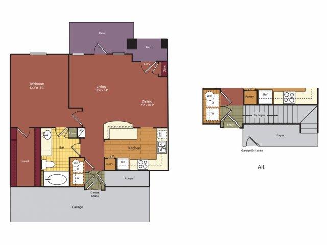 850 sq. ft. A4G floor plan