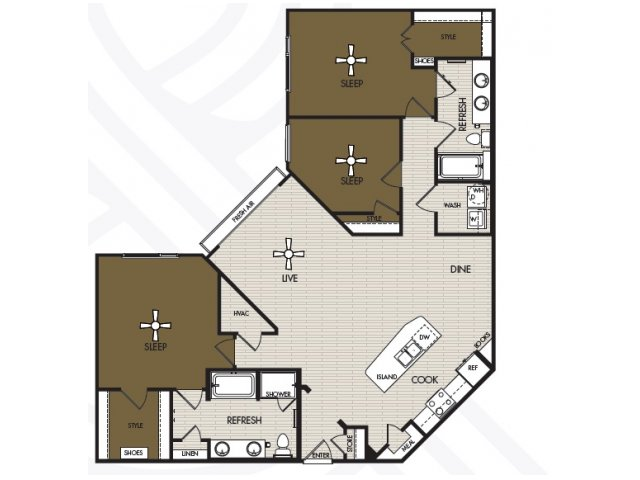 1,612 sq. ft. C1b floor plan