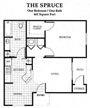 661 sq. ft. 60 floor plan