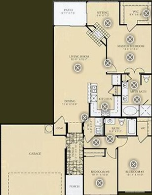 1,510 sq. ft. to 1,544 sq. ft. C2 - O'KEEFE floor plan
