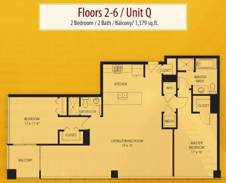 1,379 sq. ft. Q floor plan