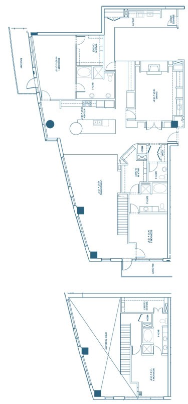 3,337 sq. ft. C4-Penthouse floor plan