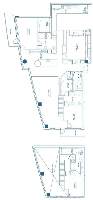 3,337 sq. ft. C4-Penthouse floor plan