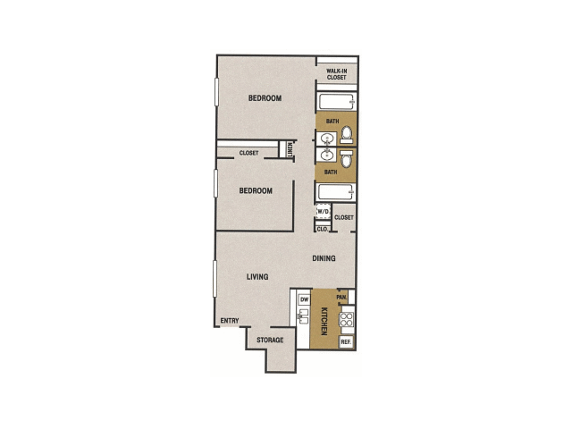 971 sq. ft. N floor plan