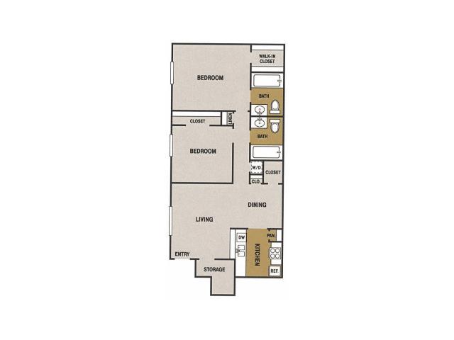 971 sq. ft. N floor plan