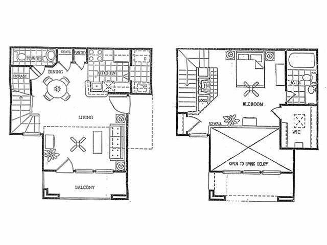 945 sq. ft. S1 floor plan