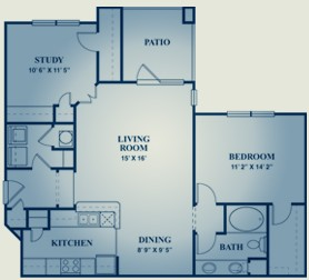 1,037 sq. ft. Chardonnay floor plan