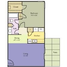 716 sq. ft. Blue Bonnet floor plan