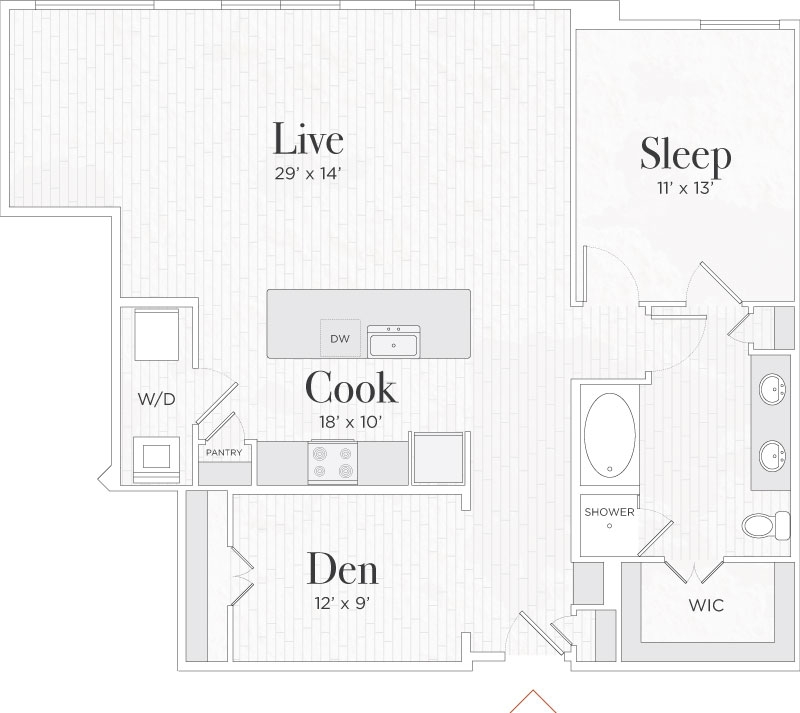 1,241 sq. ft. Nicola IV floor plan