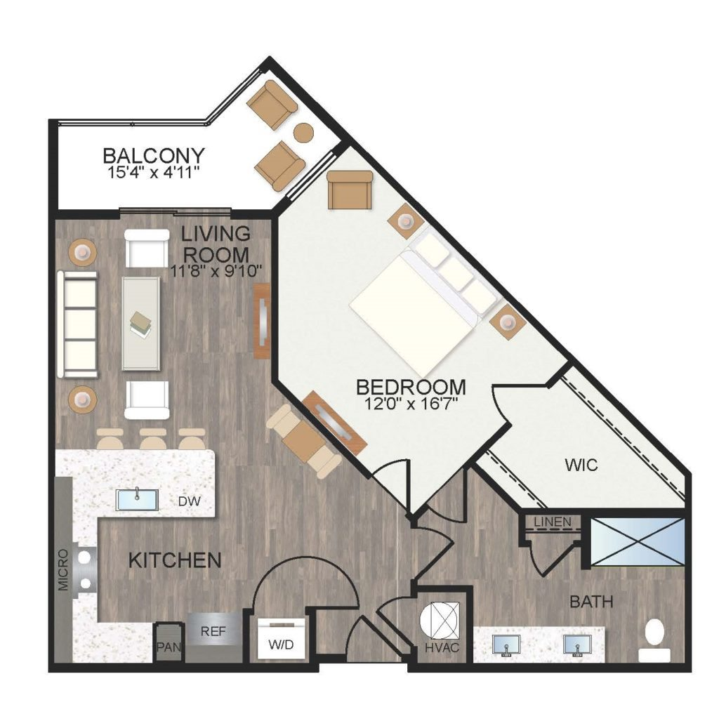 861 sq. ft. Primrose floor plan