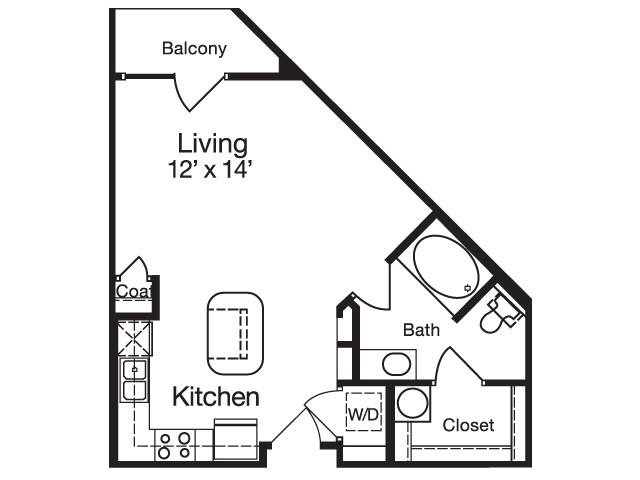 504 sq. ft. floor plan