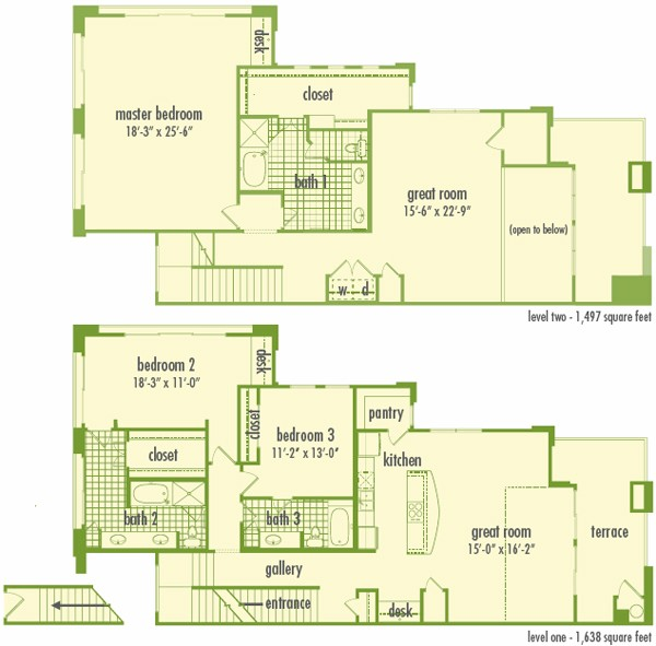 3,135 sq. ft. L3 floor plan